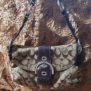Coach 6171 Soho Buckle Khaki brown Leather Bag